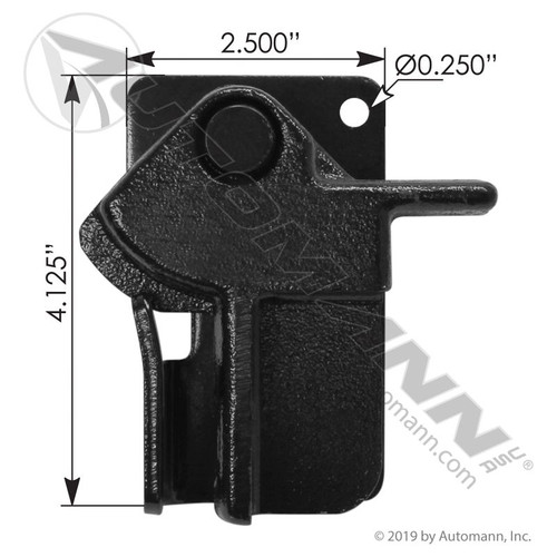 Whiting 7515 Trailer Door Lock Keeper Assembly- Black