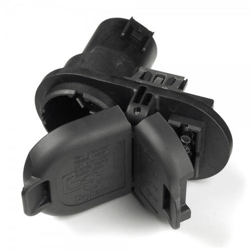 Grote 82-1055 7-way RV / 4 Pin Flat Combination Socket & Bracket Kit