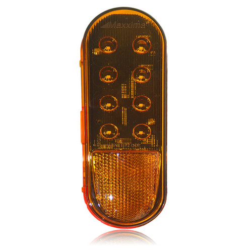 """Maxxima M63124Y 6"""" Oval LED Side Turn / Marker Lamp- 12 Diodes (SO)"""