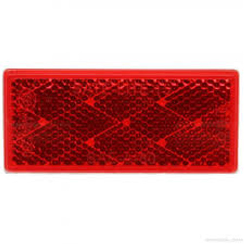 RED REFLECTOR RECTANGLE ADHESIVE MOUNTED (31DB)