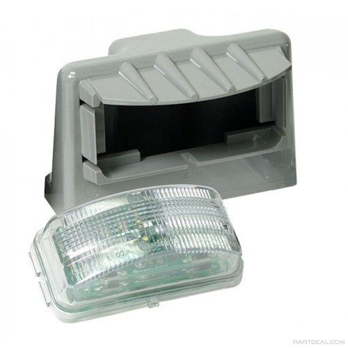 Truck-Lite 15040 Model 19 LED License Plate Lamp Assembly- Grey ABS- 3 Diodes