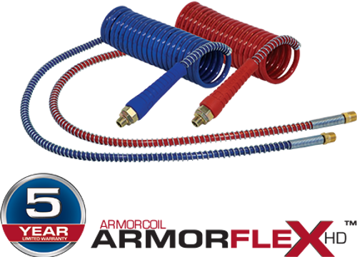 "ARMORCOIL TRAILER AIR LINES RED ONLY 15' 40""/12"" LEADS W/ FLEX GRIPS"