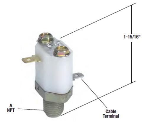 LP-3 LOW AIR PRESSURE SWITCH DUAL TERMINALS *GENUINE BENDIX* 228750N