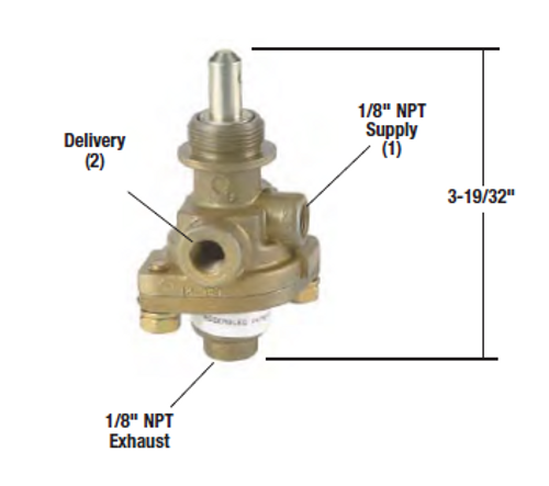 Bendix PP-1 Control Valve- 40 psi *Genuine Bendix* OR276567X- replaces 276567N *Reman- No Core Required*