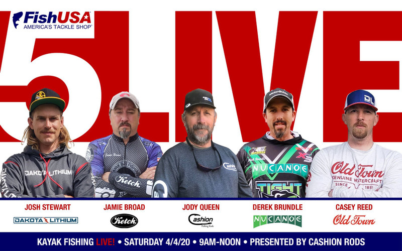 5 Live Shootout - Live 5 Person Kayak Fishing Tournament for $1,000