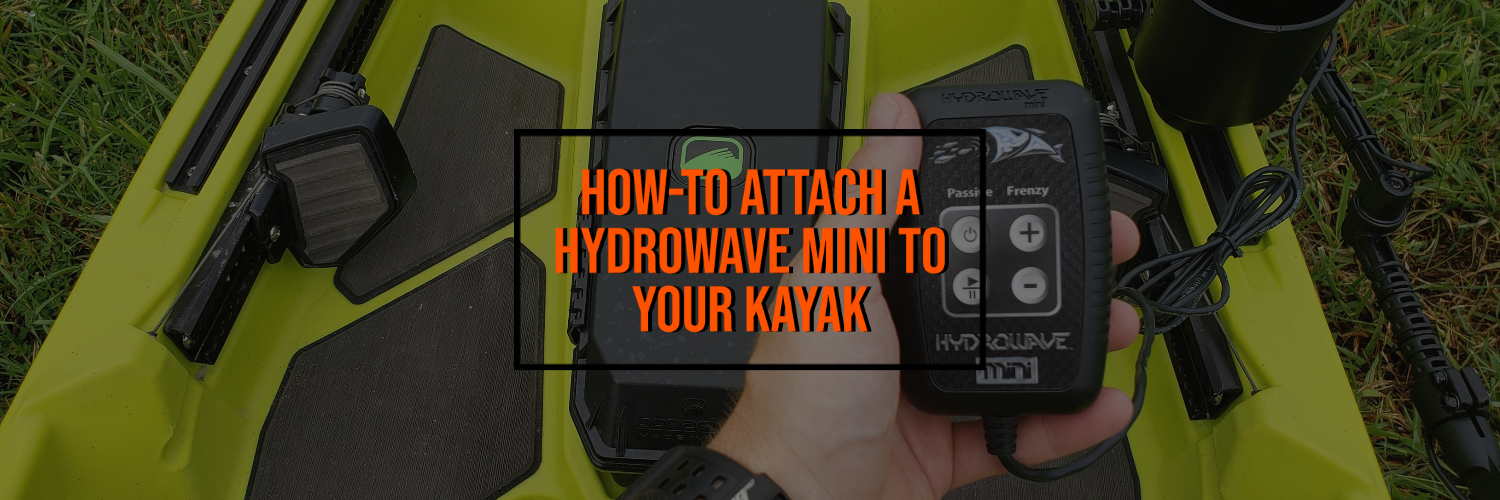 How to Attach a  HydroWave Mini To Your Kayak