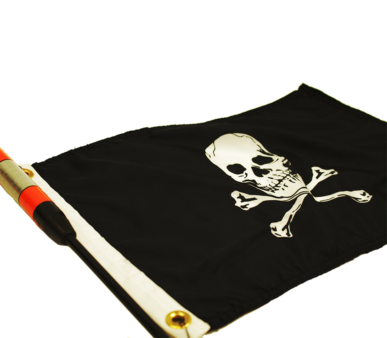 Jolly Roger Flag attaches to YakAttack visibility products