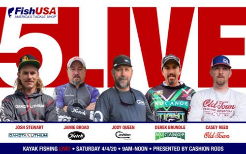 5 Live Shootout - Live 5 Person Kayak Fishing Tournament for $1,000