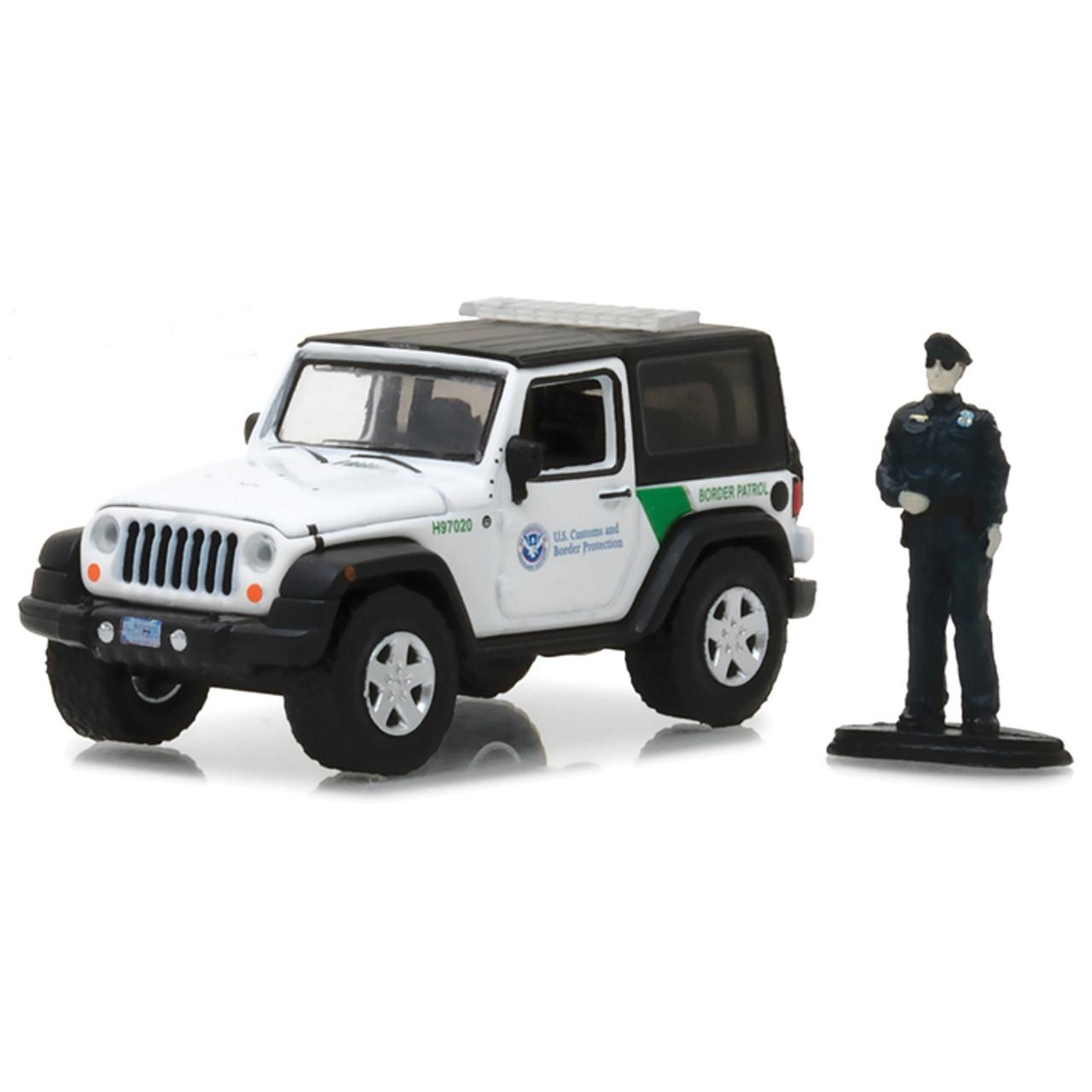 2016 Jeep Wrangler JK Custom Christmas Ornament 1:64 Diecast Border Patrol