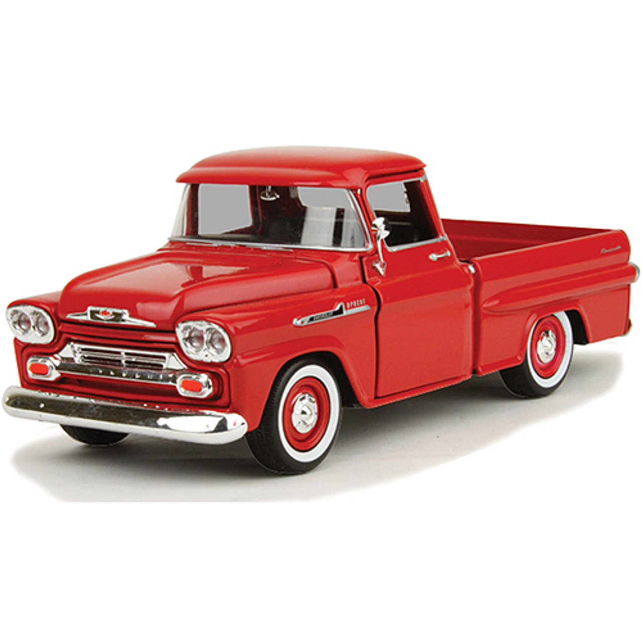 1958 Chevy Apache Fleetside Pickup Red 1 24 Scale Diecast Model By Motormax Fairfield Collectibles The 1 Source For High Quality Diecast Scale Model Cars