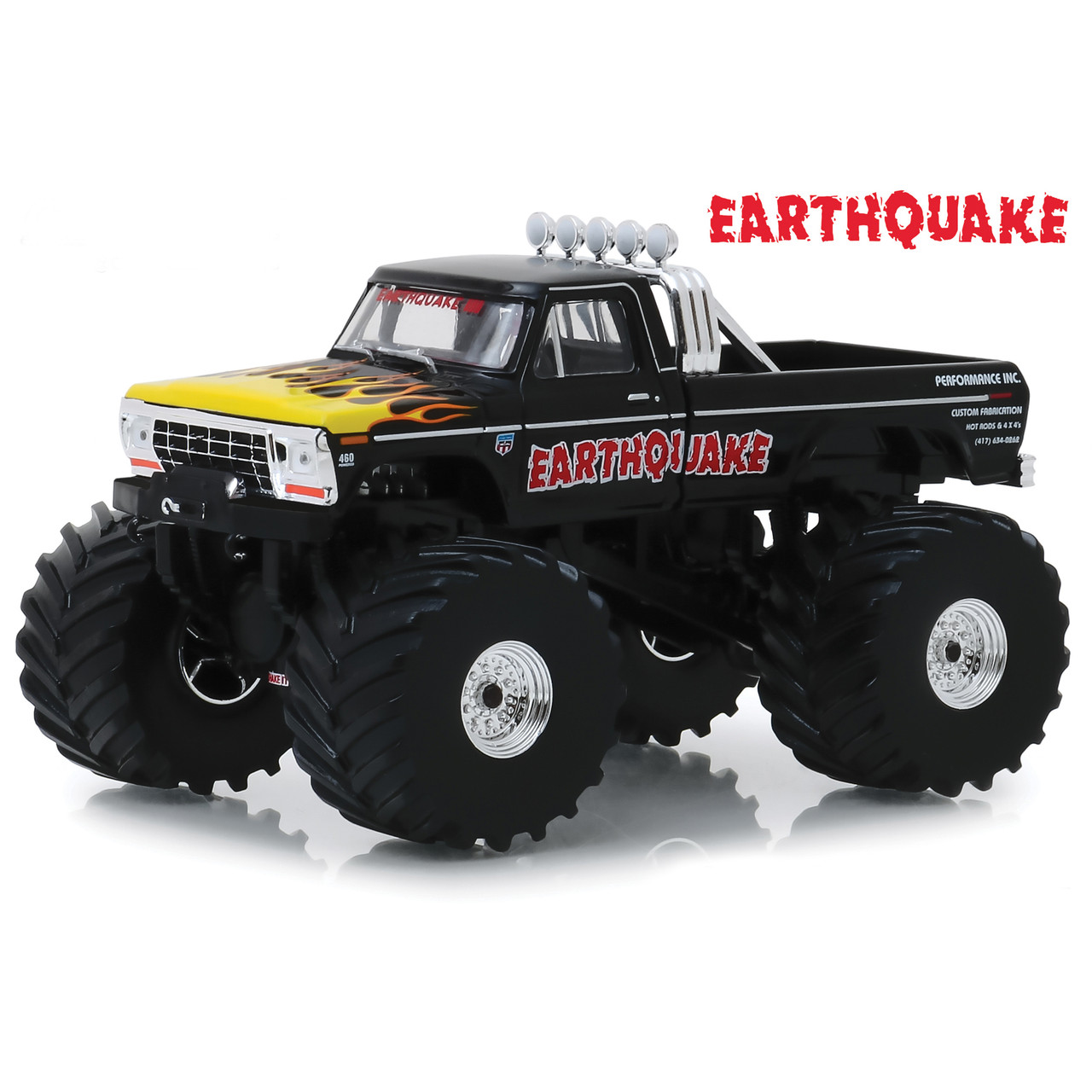 1975 Ford F250 >> Earthquake 1975 Ford F 250 Monster Truck With 66 Inch Tires 1 43 Scale Diecast Model By Greenlight
