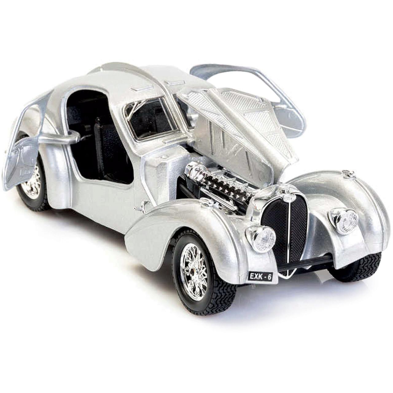 BUGATTI ATLANTIC 1:24 Scale Diecast Model Car Burago Team Collector Toy Gift Box
