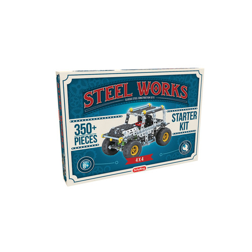 Steel Works 4x4 Jeep Building Kit Diecast Model by Schylling