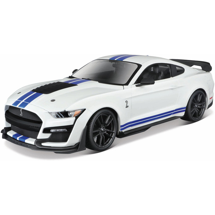 2020 Mustang Shelby G.T. 500 - White with  Blue Stripes Main Image
