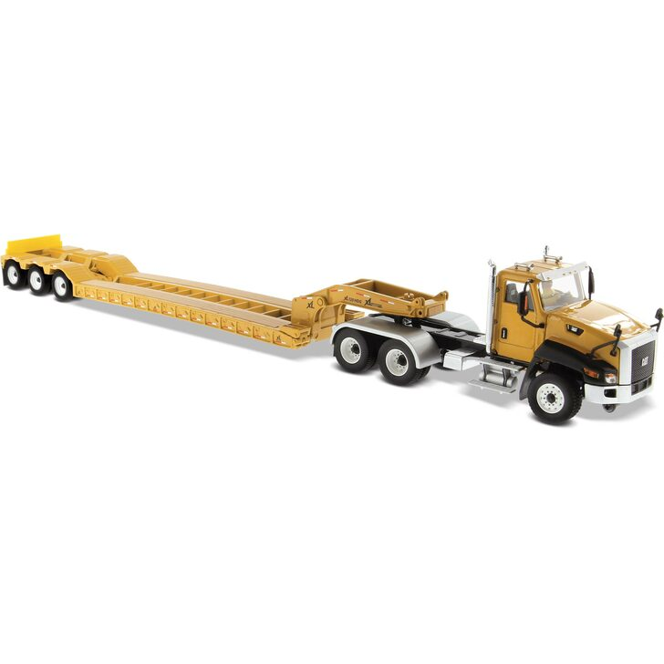 Caterpillar Cat CT660 Day Cab Tractor with XL120 Low-Profile HDG Trailer Main Image