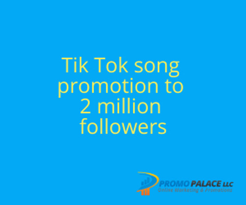 Tik Tok song promotion to 2 million followers
