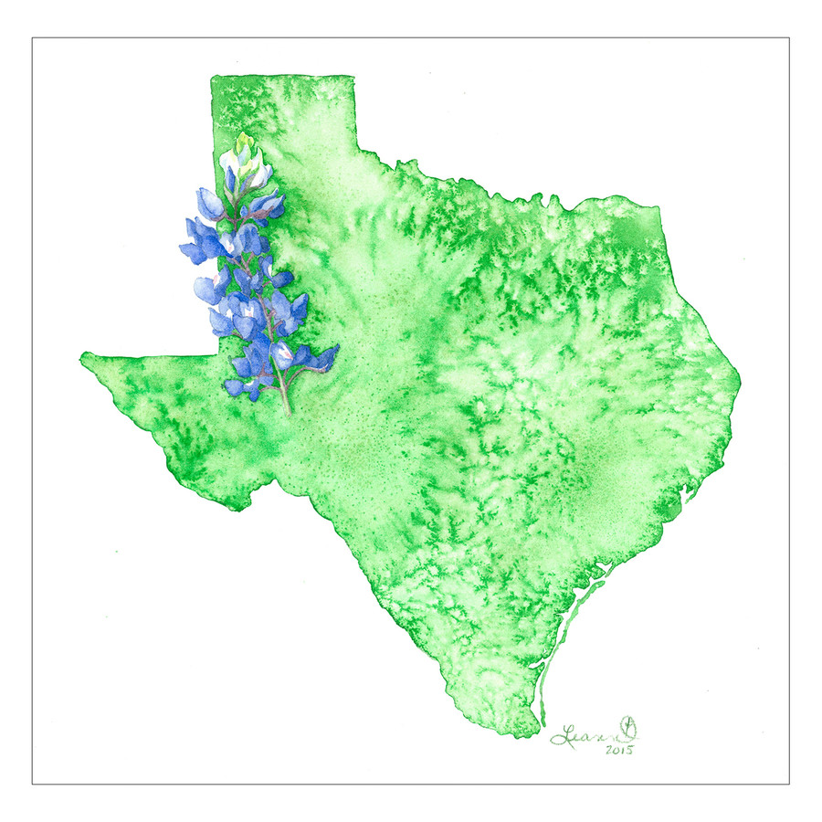 Texas with Bluebonnets