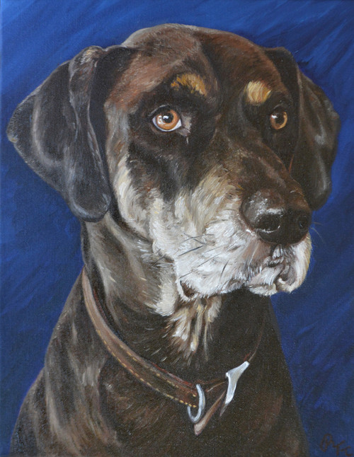 "16""  X 20"" Custom Pet Painting- One Pet, No Background"