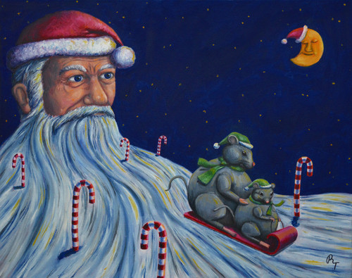 "19"" x 24"" Oil Painting -""Christmas Eve"""