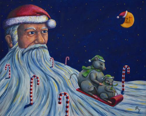 "19"" x 24"" Oil Painting -""Christmas Eve"""