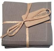 Grey Cotton Folded Napkin - 20 Units Per Pack