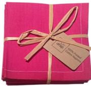 Fuchsia Cotton Folded Napkin - 20 Units Per Pack