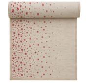 Natural Fading Stars Linen Printed Dinner Napkin - 12 Units Per Roll