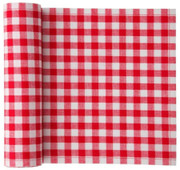 Red Vichy Cotton Printed Luncheon Napkin Wholesale (10 Rolls)