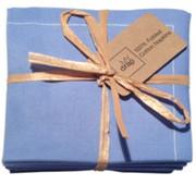 Sea Blue Cotton Folded Napkin Wholesale (20 Units)