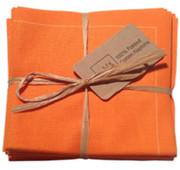 Orange Cotton Folded Napkin Wholesale (20 Units)