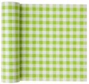 Pistachio Vichy Cotton Printed Luncheon Napkin Wholesale (10 Rolls)