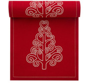 Red with Tree Cotton Printed Luncheon Napkin Wholesale (10 Rolls)
