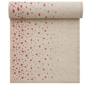 Natural Fading Stars Linen Printed Dinner Napkin Wholesale (10 Rolls)