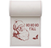 Ho Ho Ho Y'All Linen Printed Cocktail Napkin - 50 Units Per Roll
