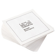 "White Cotton Cocktail with Drinking Quotes - 4.5"" x 4.5"" - 50 Units"