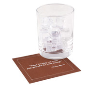 "Thanksgiving Quotes Cotton Cocktail Napkin - 4.5"" x 4.5"" - 50 Units"