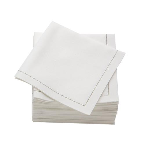 Ecru  Cotton Folded  Cocktail Napkins -  600 units per case