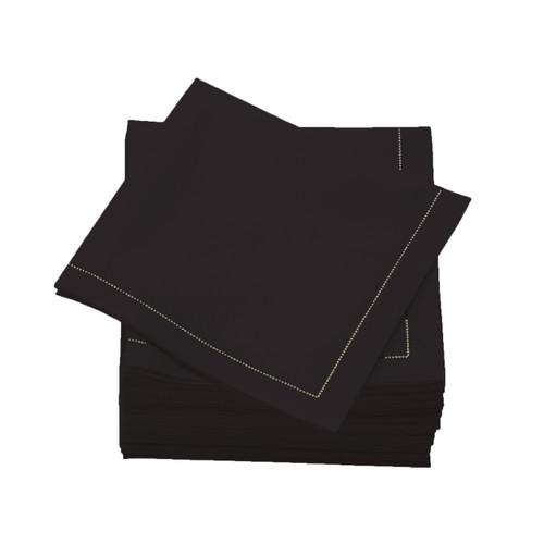 Black  Cotton Folded  Cocktail Napkins -  600 units per case