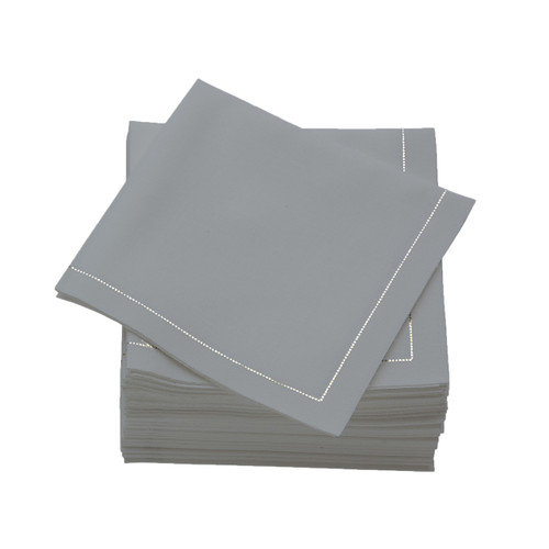 Pearl Grey  Cotton Folded  Cocktail Napkins -  600 units per case