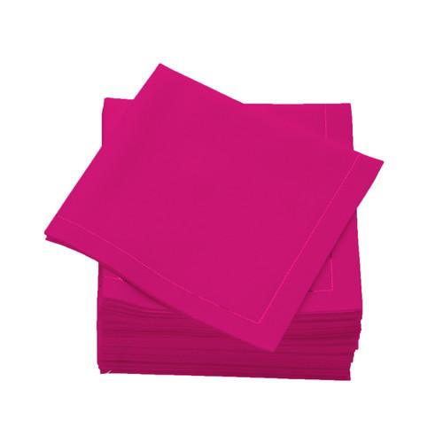 Fuchsia  Cotton Folded  Cocktail Napkins -  600 units per case