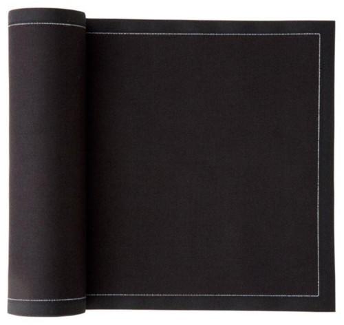 Black Cotton Premium Dinner Napkin - 25 units Wholesale (10 Rolls)