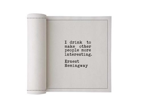 Quotes  Cotton Printed Cocktail Napkin Wholesale (500 units)