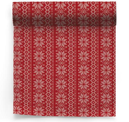 Noel Cotton Printed Dinner Napkin - 6 Units Per Roll