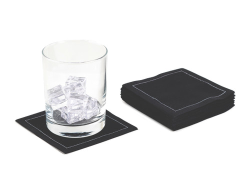 Black Cotton Cocktail Napkins (50 x)
