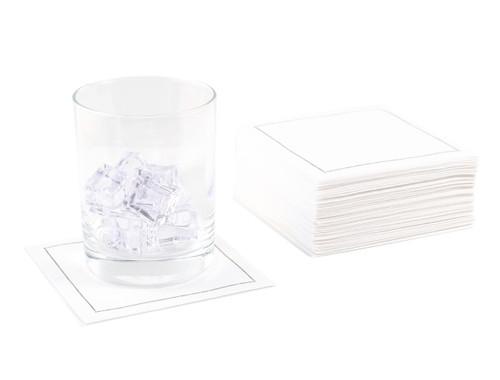 White Cotton Cocktail Napkins - 140 GSM (1200 x)