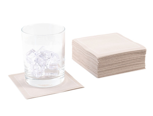Sand Cotton Cocktail Napkins - 200 GSM (1200 x)