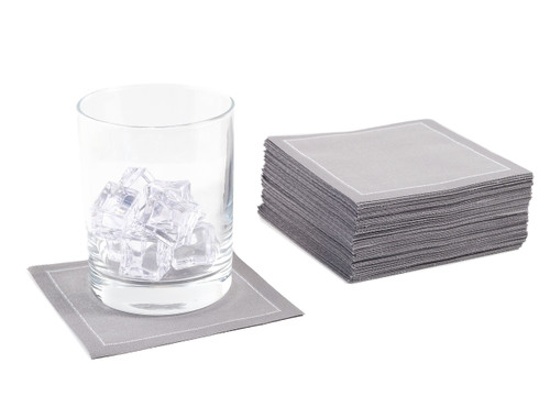 Grey Cotton Cocktail Napkins - 200 GSM ( 1200 x)