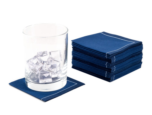 Midnight Blue 1/4 Fold Cocktail Napkins - 200 GSM (600 x)