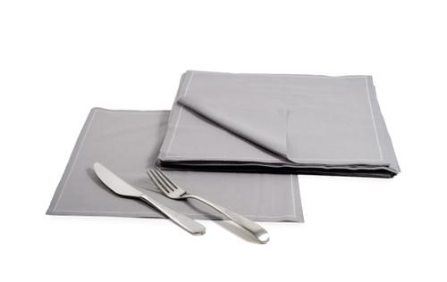 Grey Cotton Dinner Napkins – 140 GSM (25x)