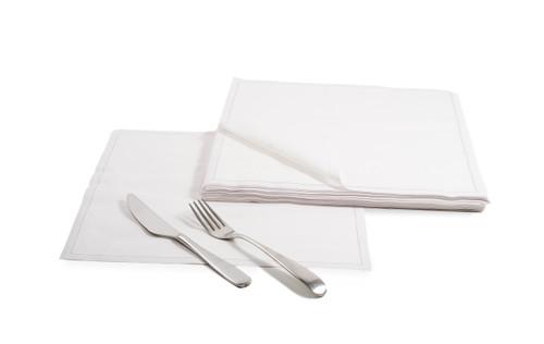 White Cotton Dinner Napkins – 140 GSM (50x)